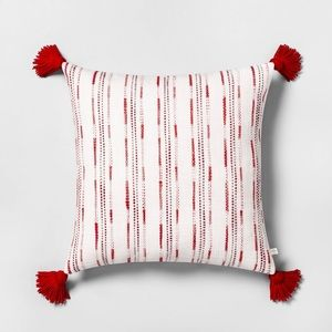 Hearth & Hand Embroidered Striped Toss Pillow